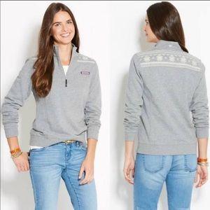 Vineyard Vines Snowflake Shep Shirt Pullover Gray